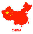 the detailed map of the china with flag vector image