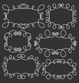 hand drawn frame decorative calligraphic elements vector image