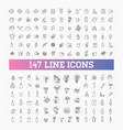147 drinks thin icon set vector image vector image