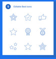 9 best icons vector image vector image