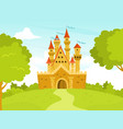 a castle vector image
