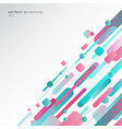 abstract geometric shapes dynamic composition vector image vector image