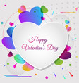 abstract greeting card for valentines day vector image