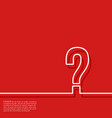abstract red background with question mark vector image vector image