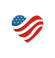 America USA logo love star icon vector image vector image