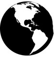 black and white globe vector image