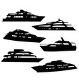 boats and yachts silhouettes vector image
