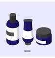 bottles for shampoo in a beauty salon Isometric vector image