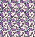 Bright purple hand drawn seamless pattern vector image vector image
