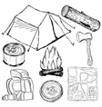 camp objects vector image