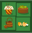 chinese cuisine tradition food dish delicious asia vector image vector image