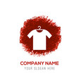 cotton t-shirt icon - red watercolor circle splash vector image vector image