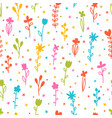 cute floral seamless pattern colorful hand drawn vector image vector image