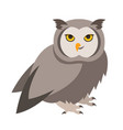 cute smiling owl cartoon vector image vector image
