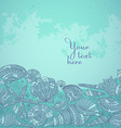 decorative background with beautiful seashells vector image vector image