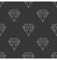 Diamond dark seamless pattern vector image