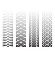 dotted tire tracks 5 vector image vector image