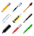 Drawing tools icons set vector image vector image