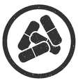 Drugs Icon Rubber Stamp vector image
