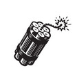 dynamite with burning wick bomb explosive symbol vector image