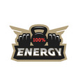 energy sport logo vector image vector image