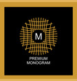 exquisite template for creating a monogram emblem vector image vector image