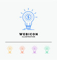 finance financial idea money startup 5 color line vector image
