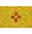Flag of New Mexico on a brick wall vector image vector image