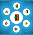 flat icon emergency set of direction pointer vector image vector image