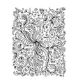 Floral ornament hand drawn sketch for your design vector image vector image