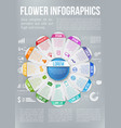 flower style infographic chart options menu vector image vector image
