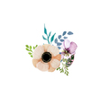 Flower Wedding decoration on a white vector image vector image