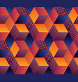geometric hexagon bright seamless motif vector image vector image