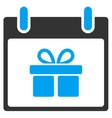 Gift Box Calendar Day Toolbar Icon vector image vector image