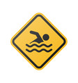 glossy swimming sign vector image vector image