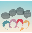 group of people with colorful dialog speech bubble vector image vector image