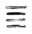Grunge brushes stroke texture set vector image