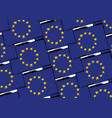 grunge european union flag or banner vector image vector image