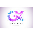 gx lines warp logo design letter icon made vector image vector image