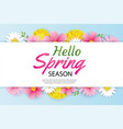 hello spring greeting card and invitation vector image