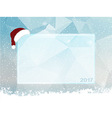 Ice snow and Santa hat copy space vector image vector image