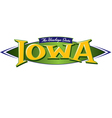 Iowa The Hawkeye State vector image