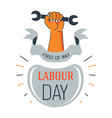 labour day isolated icon first of may wrench in vector image vector image