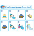 logical task which image is superfluous here vector image