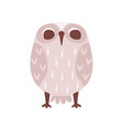 lovely funny cartoon grey owlet bird character vector image