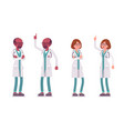 male and female negative doctor vector image vector image