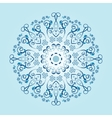 Mandala with floral elements vector image