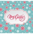 Merry Christmas greeting card with snowflakes vector image vector image
