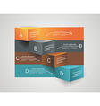 Modern business steps to success vector image