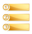 modern golden position banner set vector image vector image
